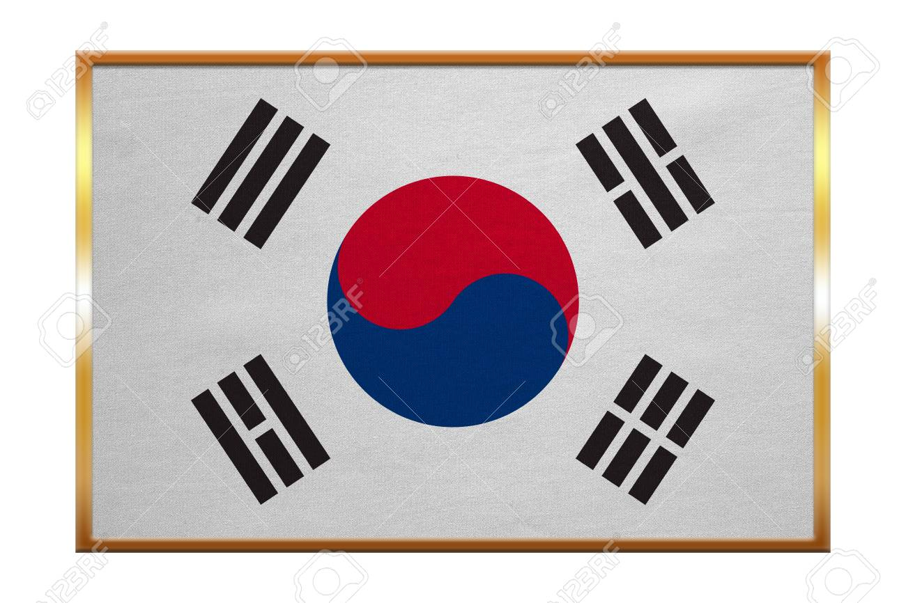 Südkoreanische Nationale Offizielle Flagge. Patriotische Symbol ...