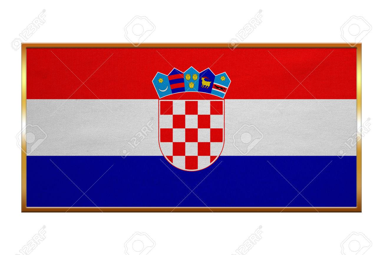 Kroatische Zentrale Für Offizielle Flagge. Patriotische Symbol ...