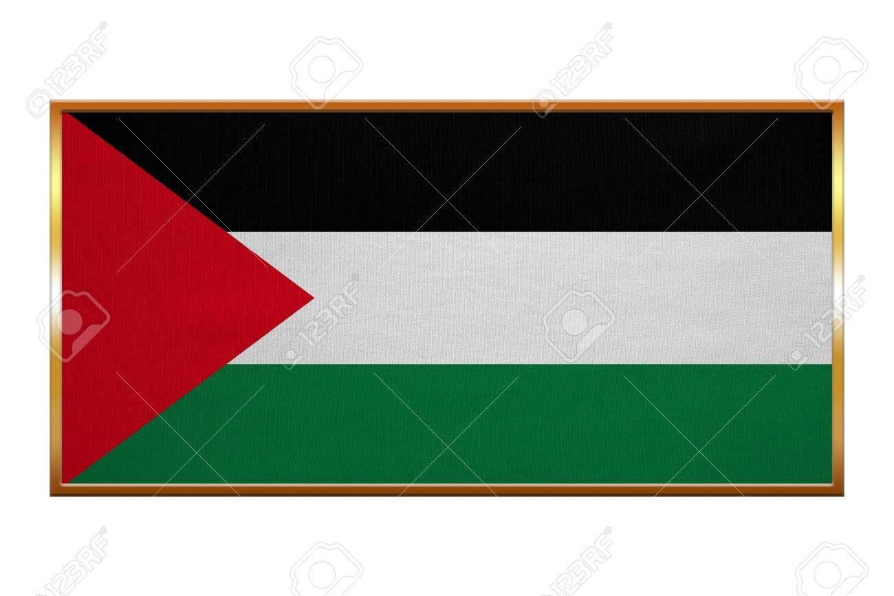 Palästinensische Nationale Offizielle Flagge. Patriotisches Symbol ...