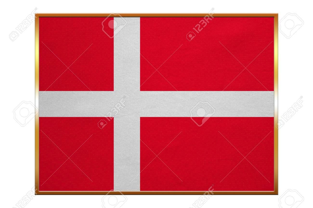 Dänische Nationale Offizielle Flagge. Patriotisches Symbol, Fahne ...