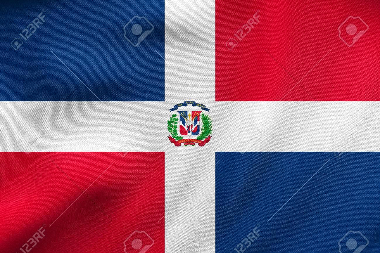 Dominican Republic National Official Flag Patriotic Symbol Stock