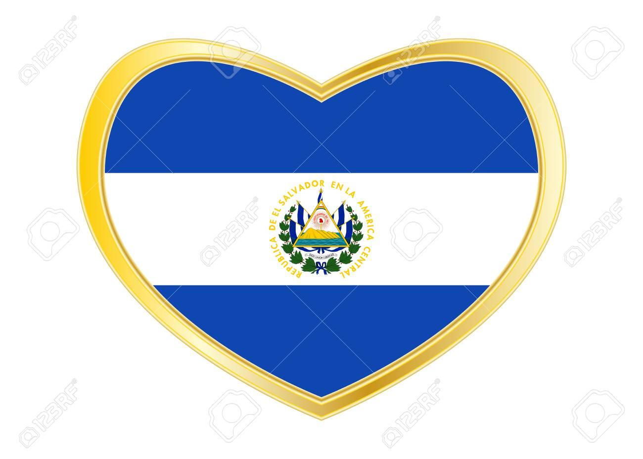Salvadoran National Official Flag Patriotic Symbol Banner