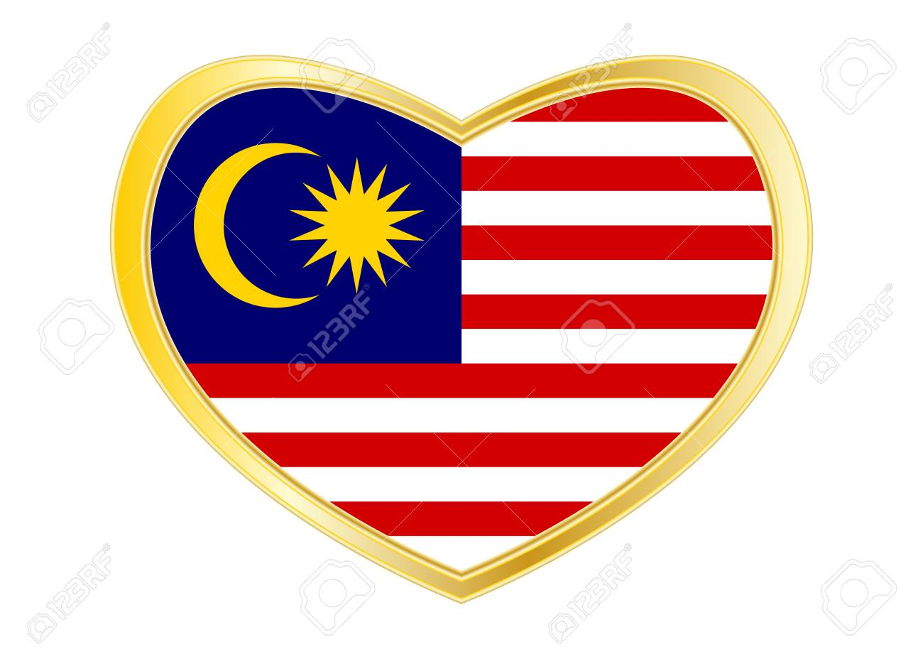 Malaysian National Official Flag Patriotic Symbol Banner Element