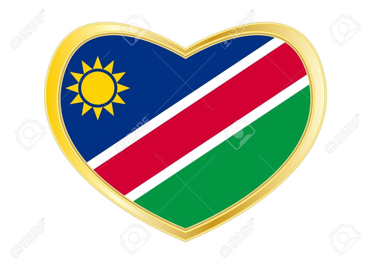Namibian national official flag  African patriotic symbol, banner,