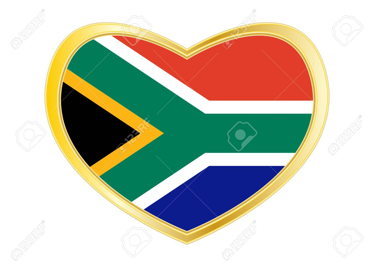 South African National Official Flag Patriotic Symbol Banner