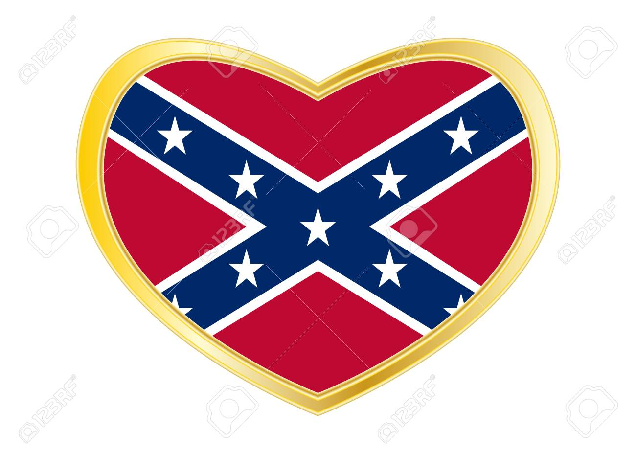 Historische Nationalflagge Der Konföderierten Staaten Von Amerika ...