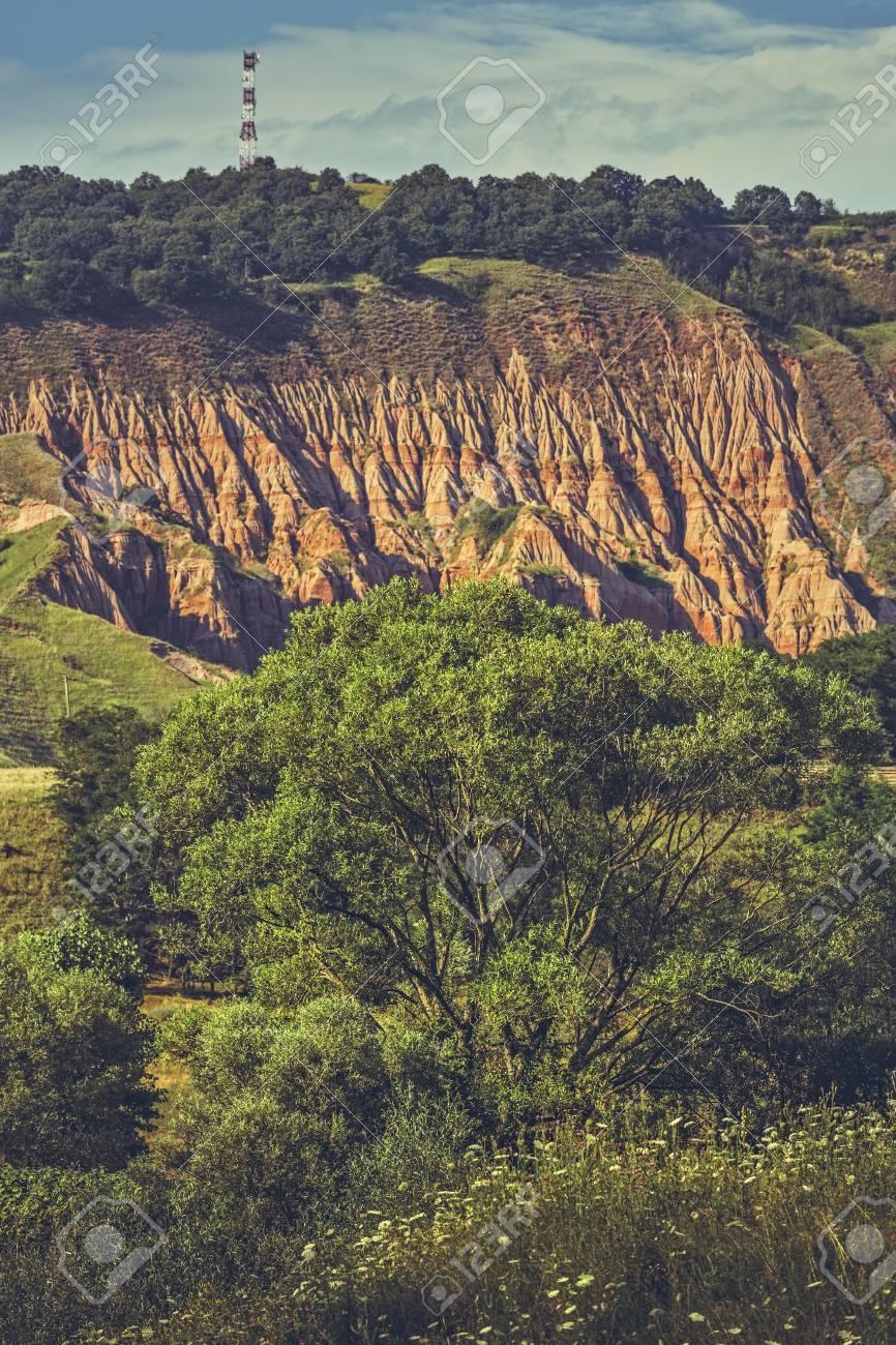地質予備赤渓谷 ラパ ロージー ヨーロッパでは sebes アルバ県