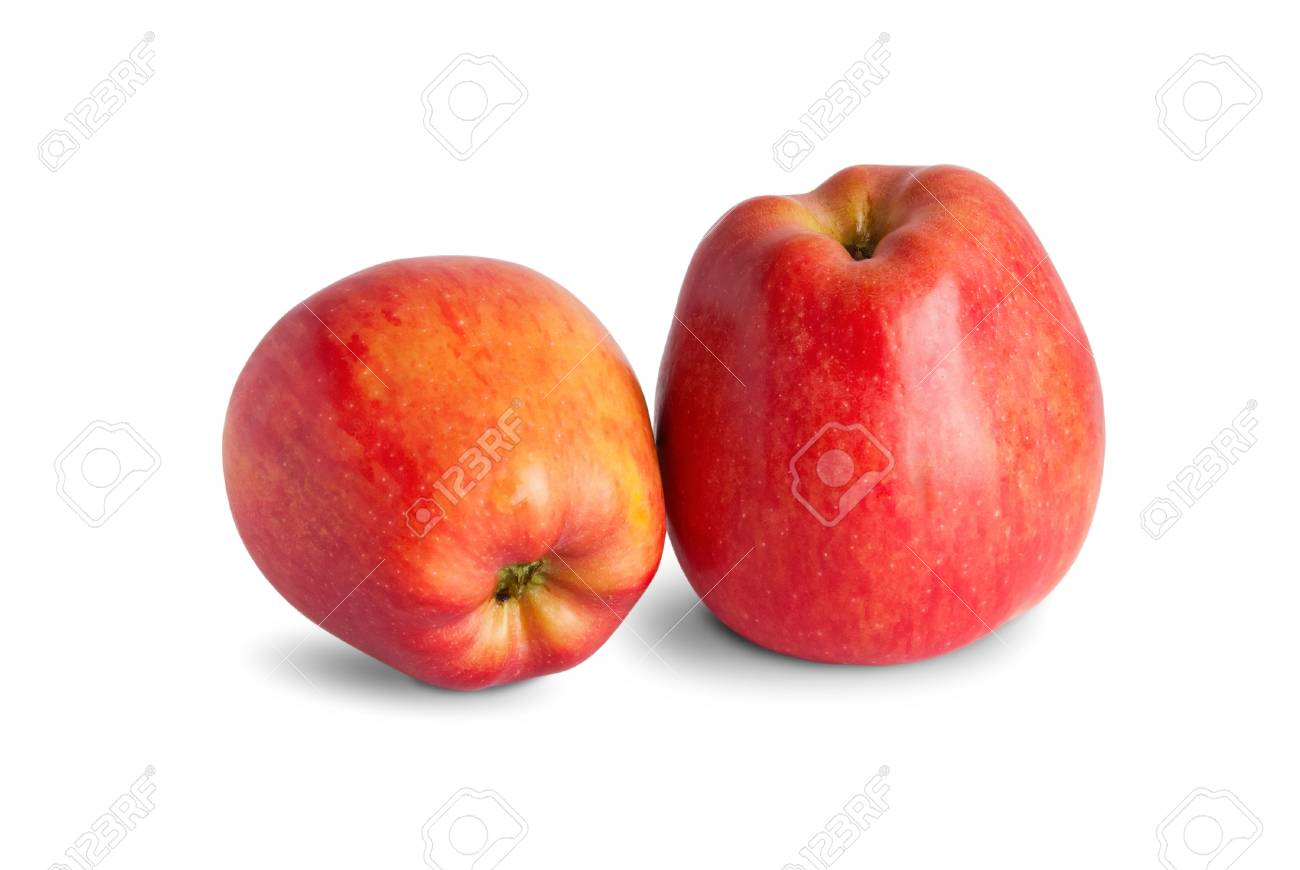 Red apple on white background Stock Photo - 12784949