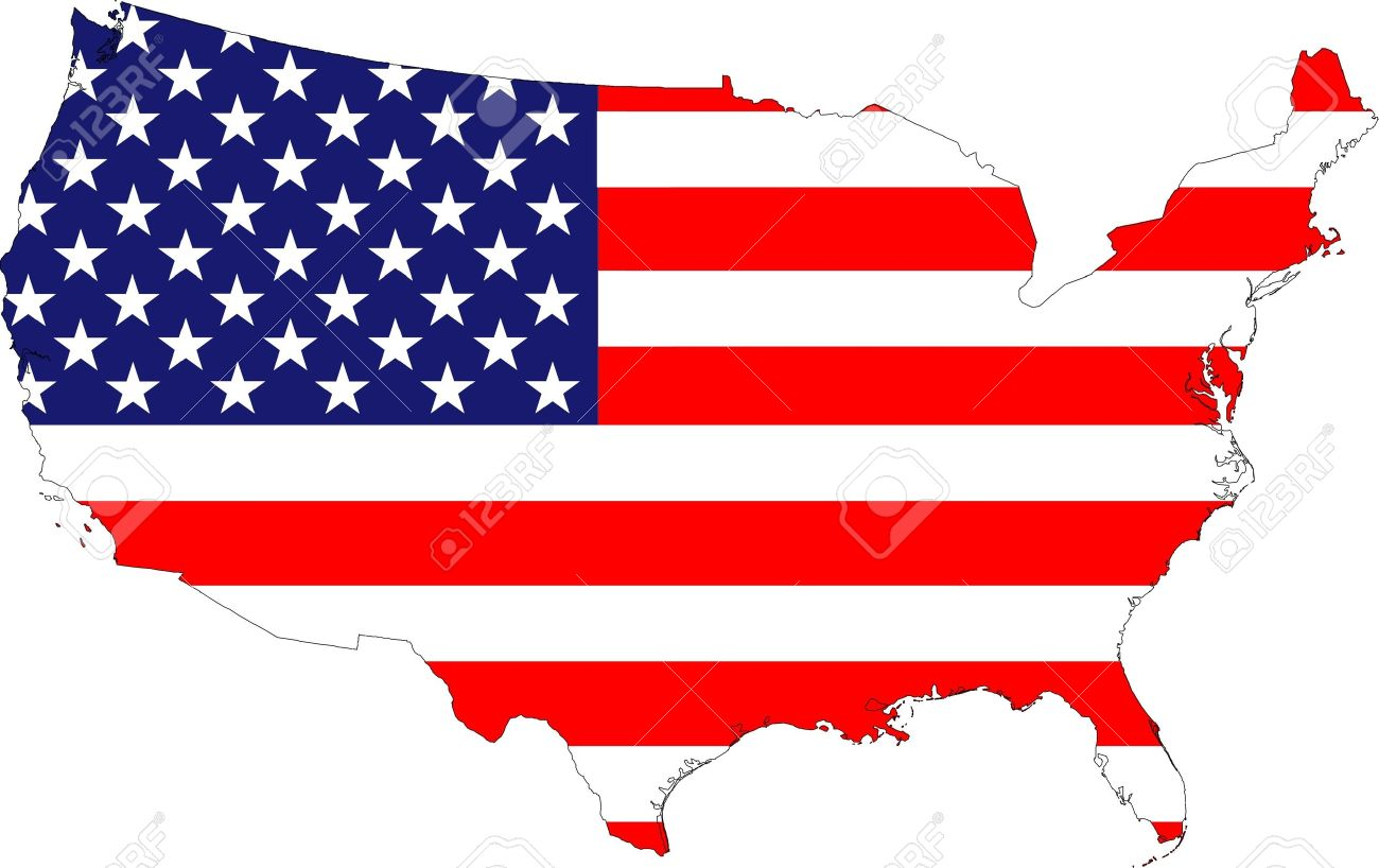 The USA Stars And Stripes Old Glory Flag Placed Over A Map Of - How old is the united states of america