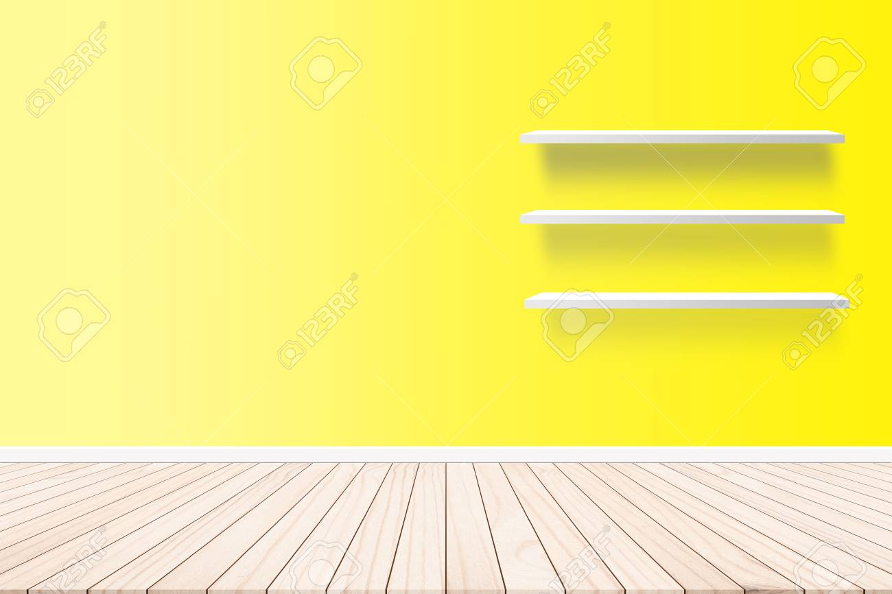 Wood Terrace With A Background Cement Wall Shelf Design Ideas ...