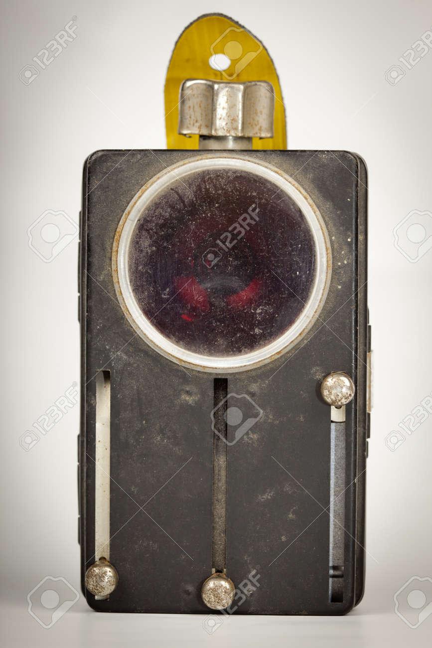 Dusty Lampe De Poche Ancienne Antique Objet Retro Banque D Images Et