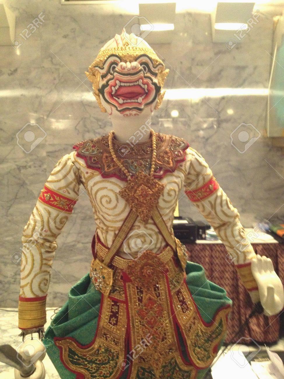 タイのハヌマン人形劇 ロイヤリ...