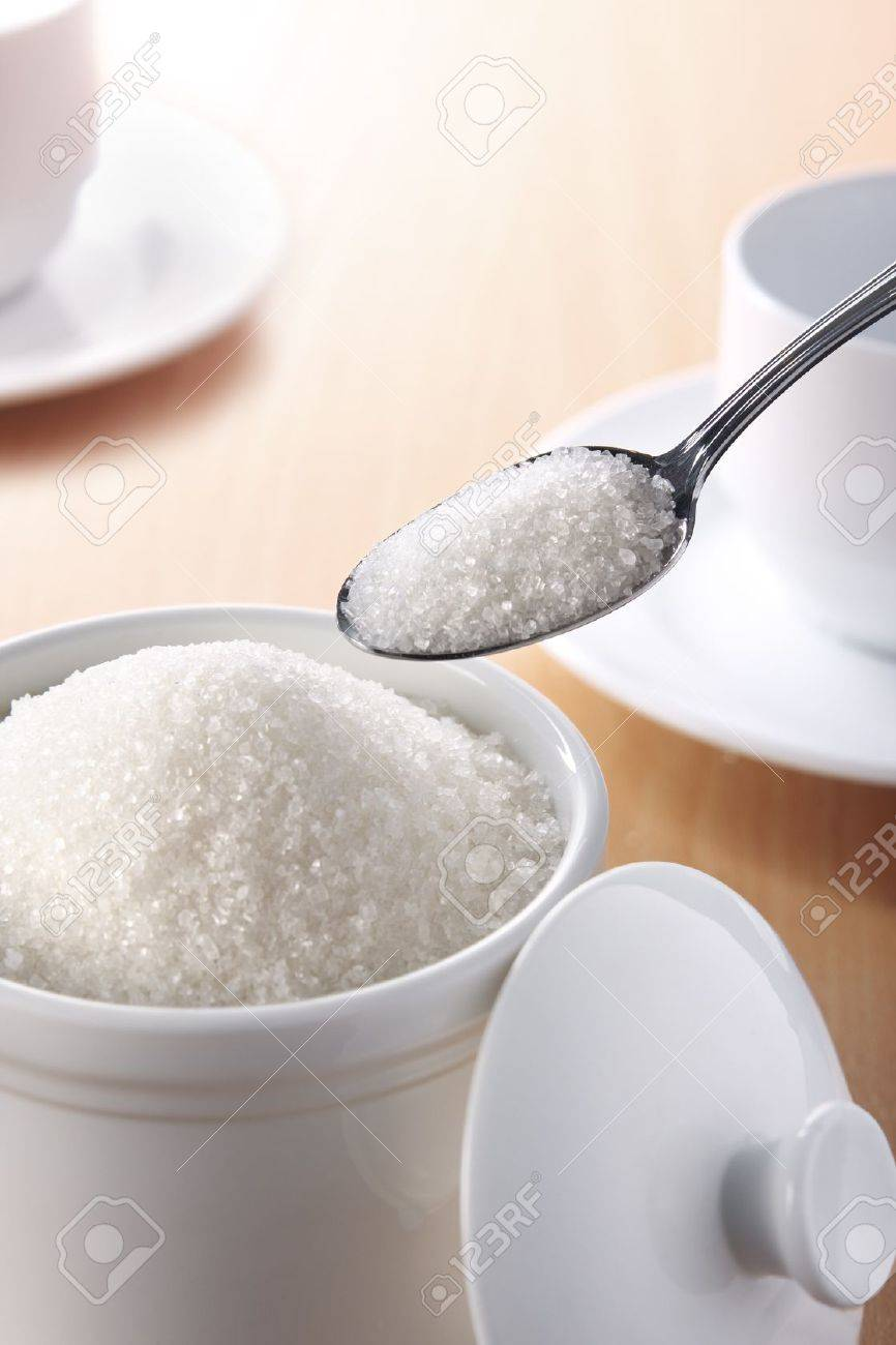 A teaspoonful of sugar for your coffee or tea Stock Photo - 12043014