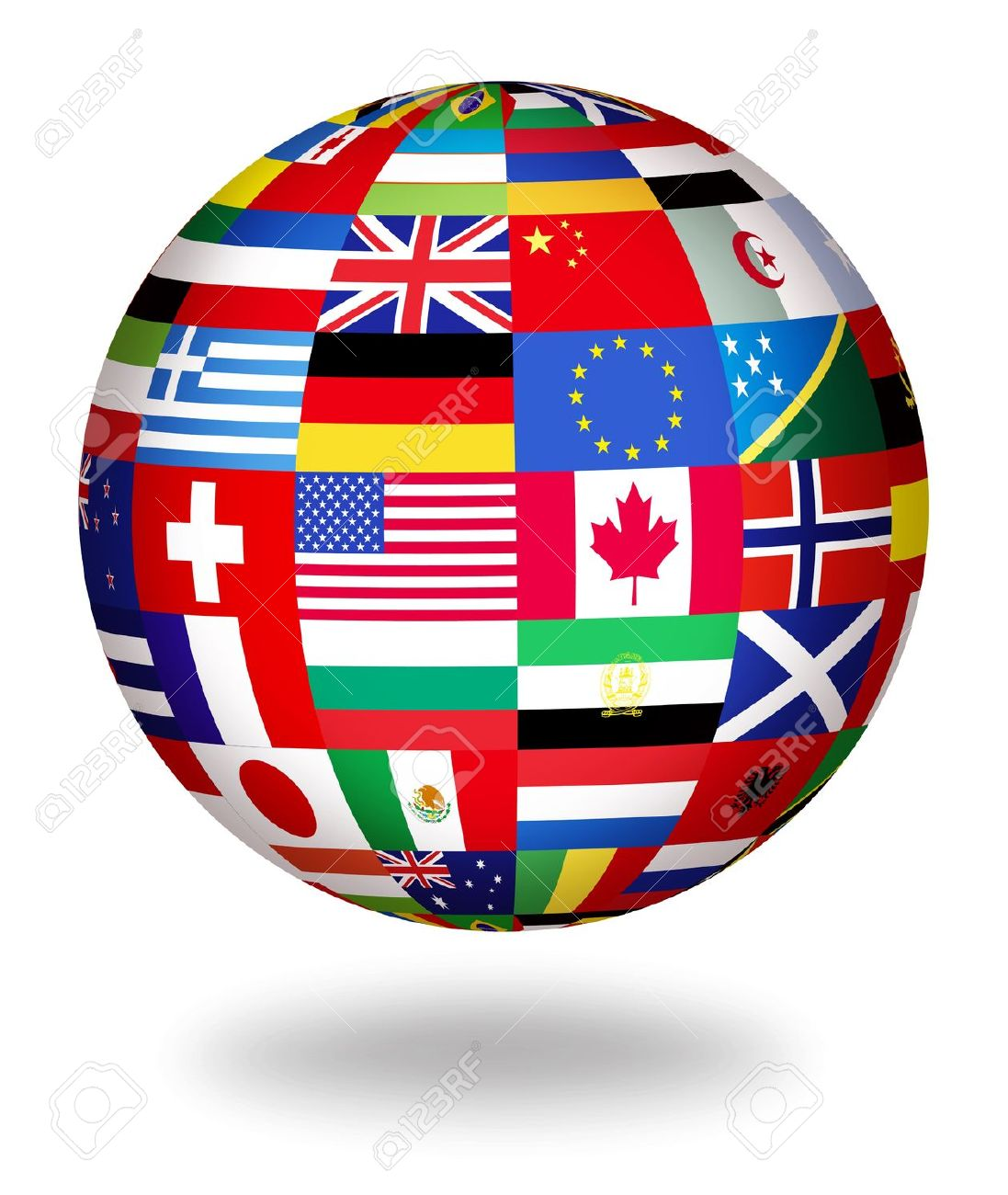Image result for Images for globes with flags
