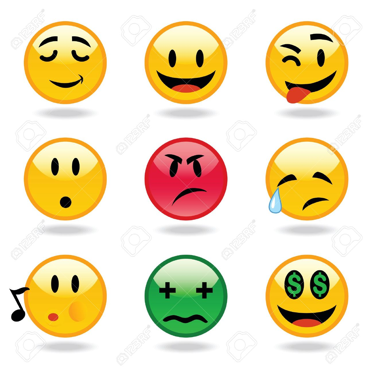 Many Facial Expression of smileys - 17000125