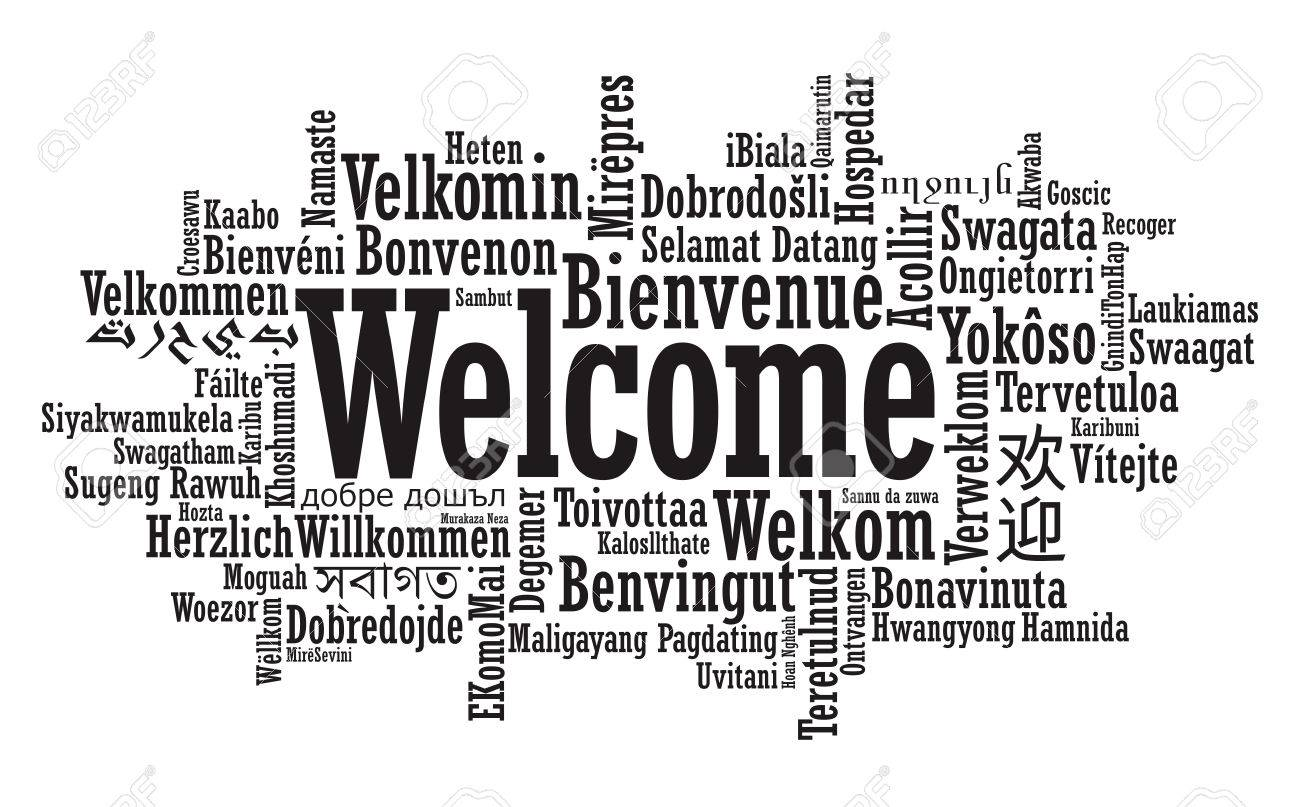 Welcome Tag Cloud in vector format - 26382754