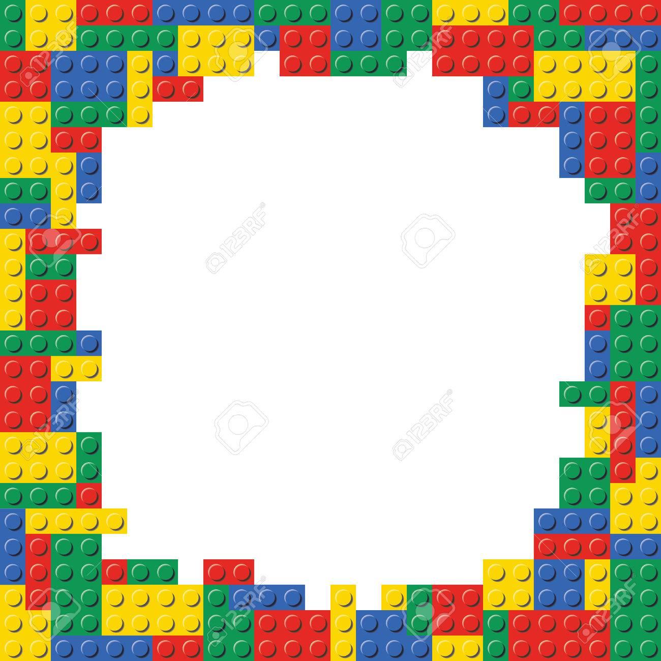 Lego building blocks brick border frame background pattern texture lego building blocks brick border frame background pattern texture template stock vector 85239513 stopboris Gallery