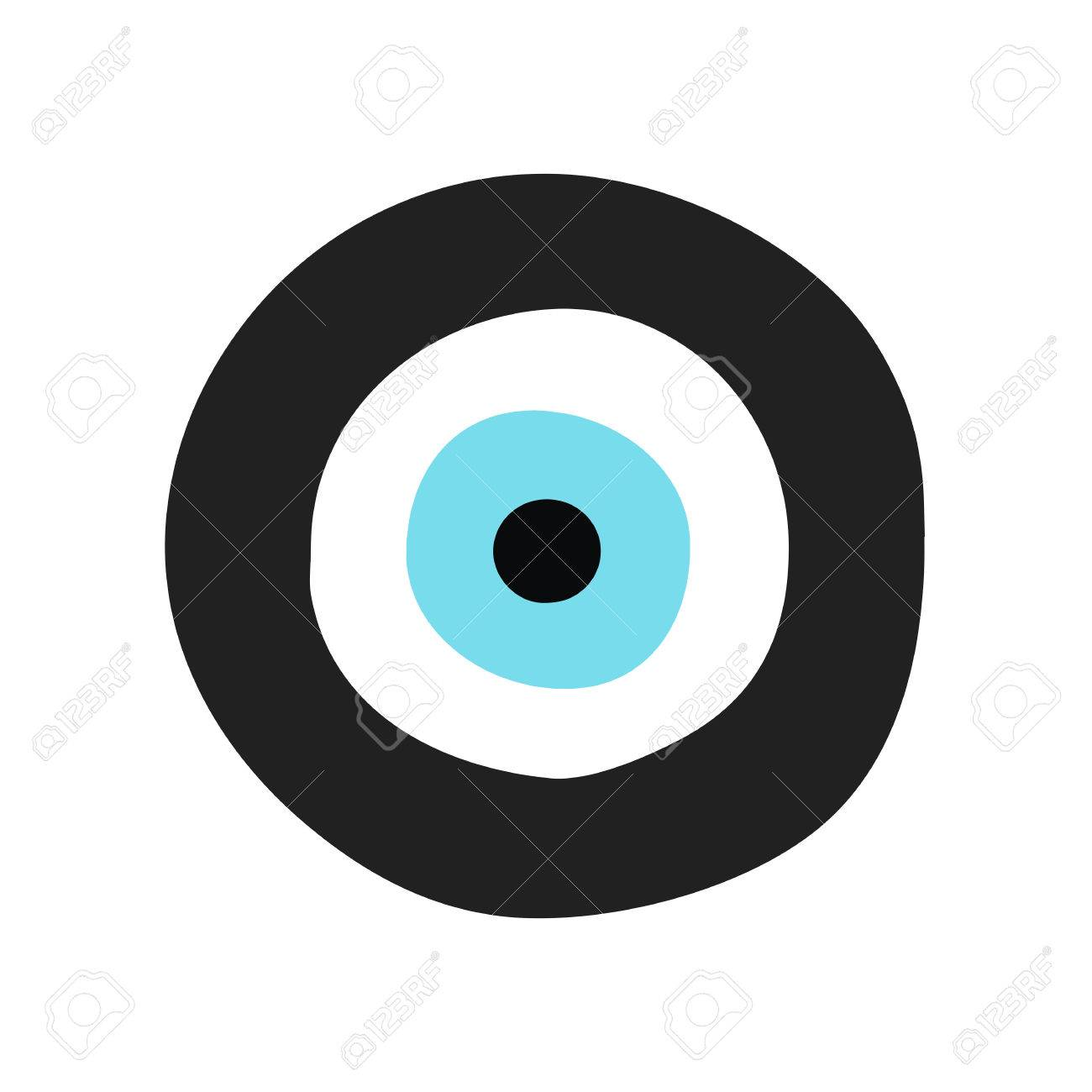 Traditional greek evil eye in black and turquoise color symbol traditional greek evil eye in black and turquoise color symbol of protection stock vector buycottarizona