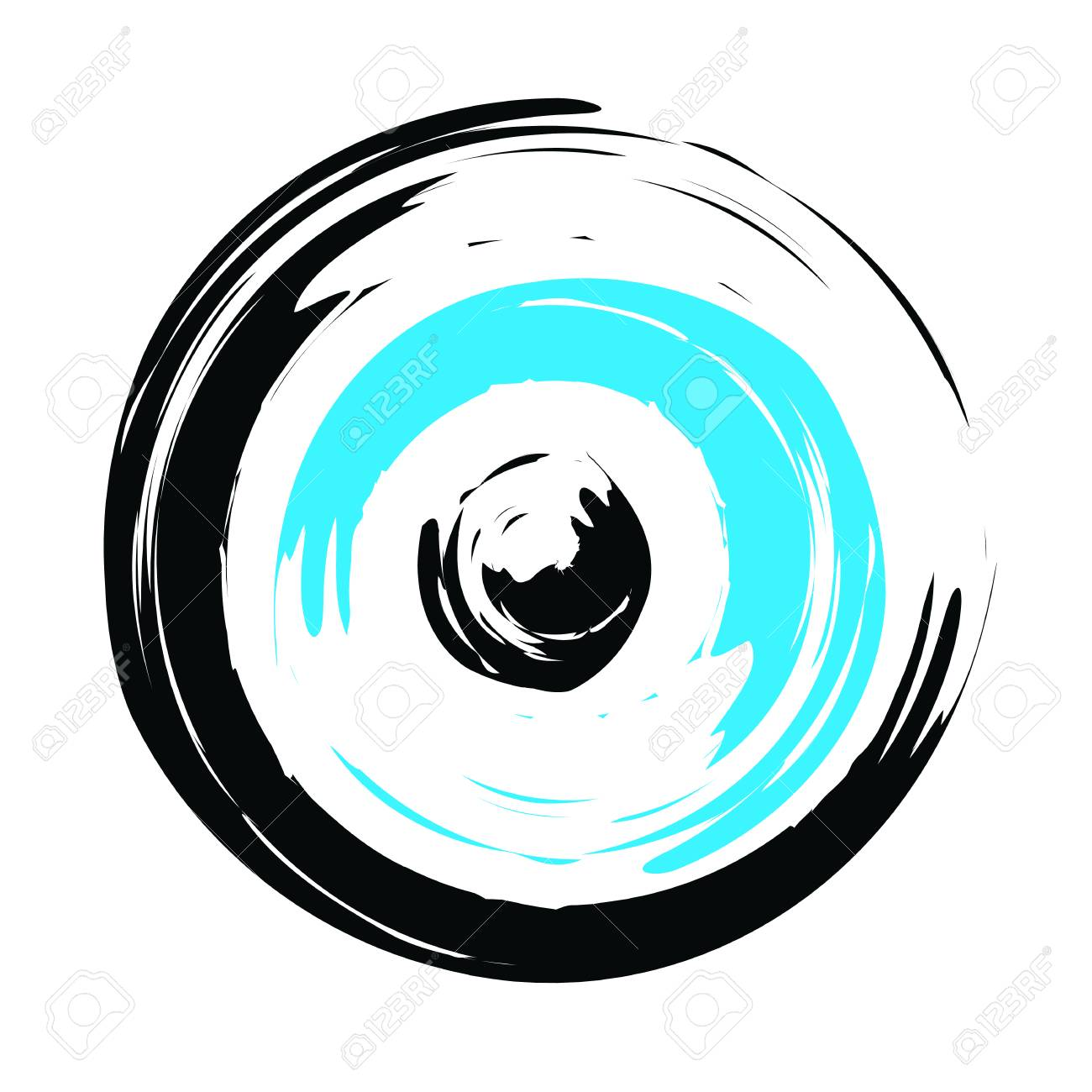 traditional greek evil eye in black and turquoise color - symbol of  protection Stock Vector - f1f1fecfa