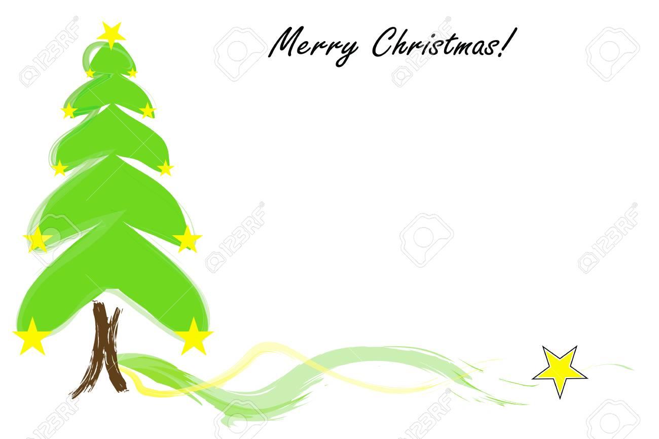 Tarjeta De Feliz Navidad Con Espacio Vacío Para Escribir