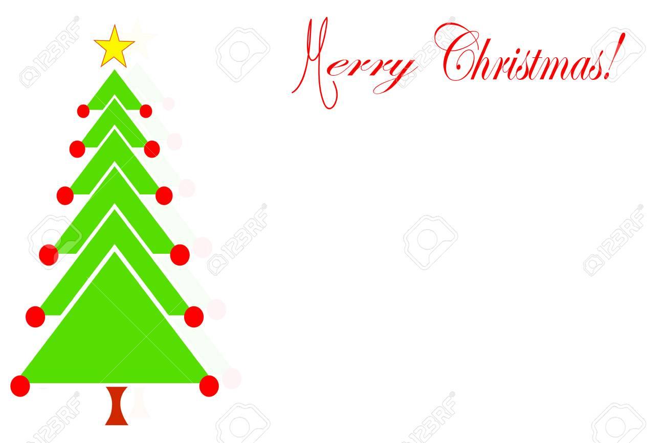Feliz Vector De Tarjeta De Navidad Con Espacio Vacío Para Escribir