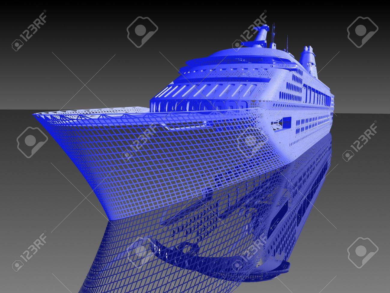 luxury yacht model Stock Photo - 16509686