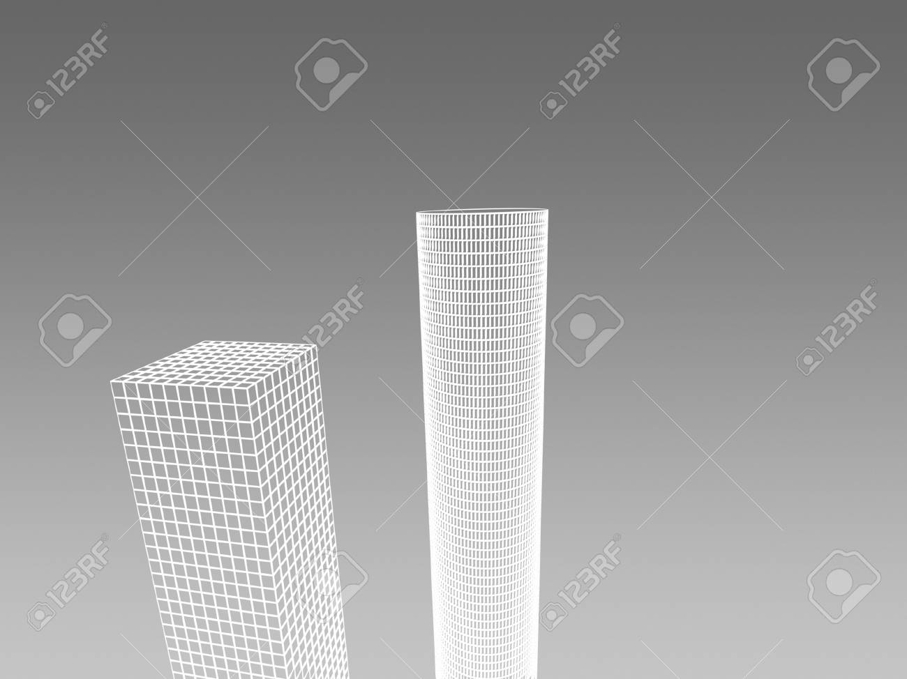 Abstract architectural 3D construction. Concept - modern architecture and designing. Stock Photo - 16910721