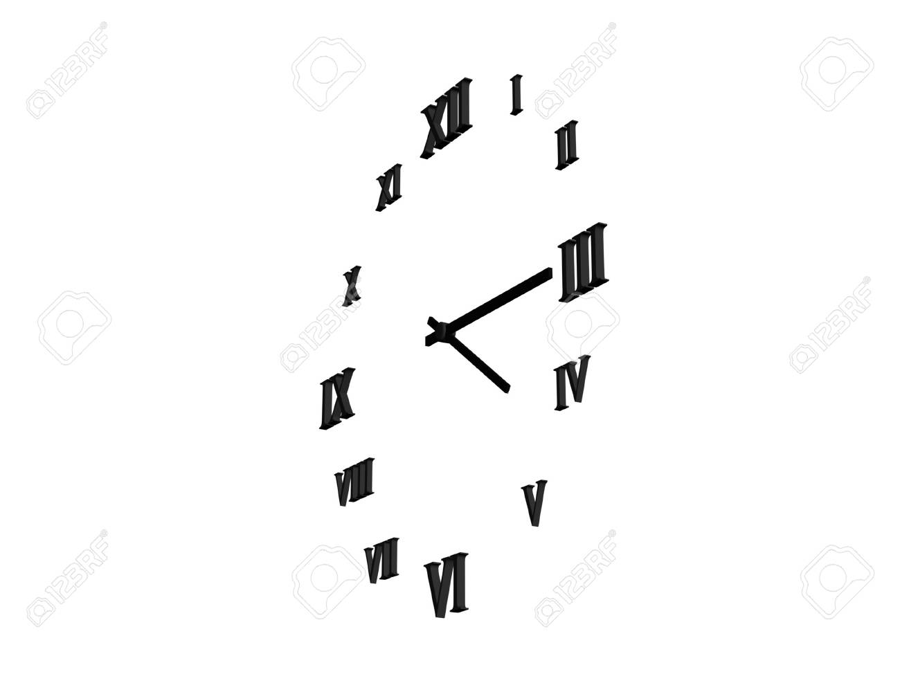 business background with clock Stock Photo - 17019412