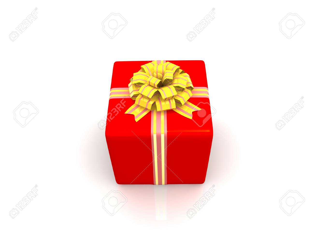Red gift isolated on white background Stock Photo - 17295712