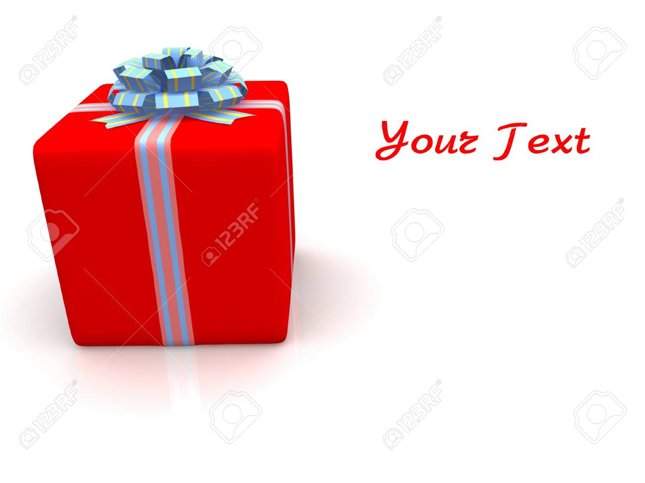 Red gift isolated on white background Stock Photo - 17409321