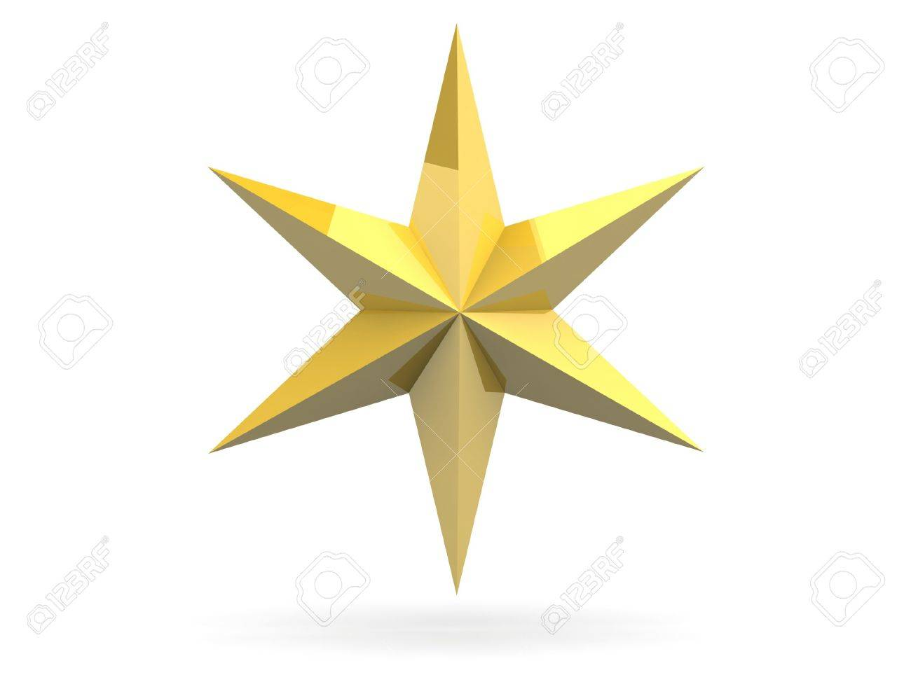 Gold Christmas star isolated over a white background Stock Photo - 18554466