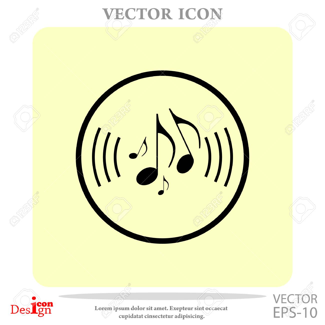 Music Note Vector Icon Royalty Free Cliparts, Vectors, And Stock ...