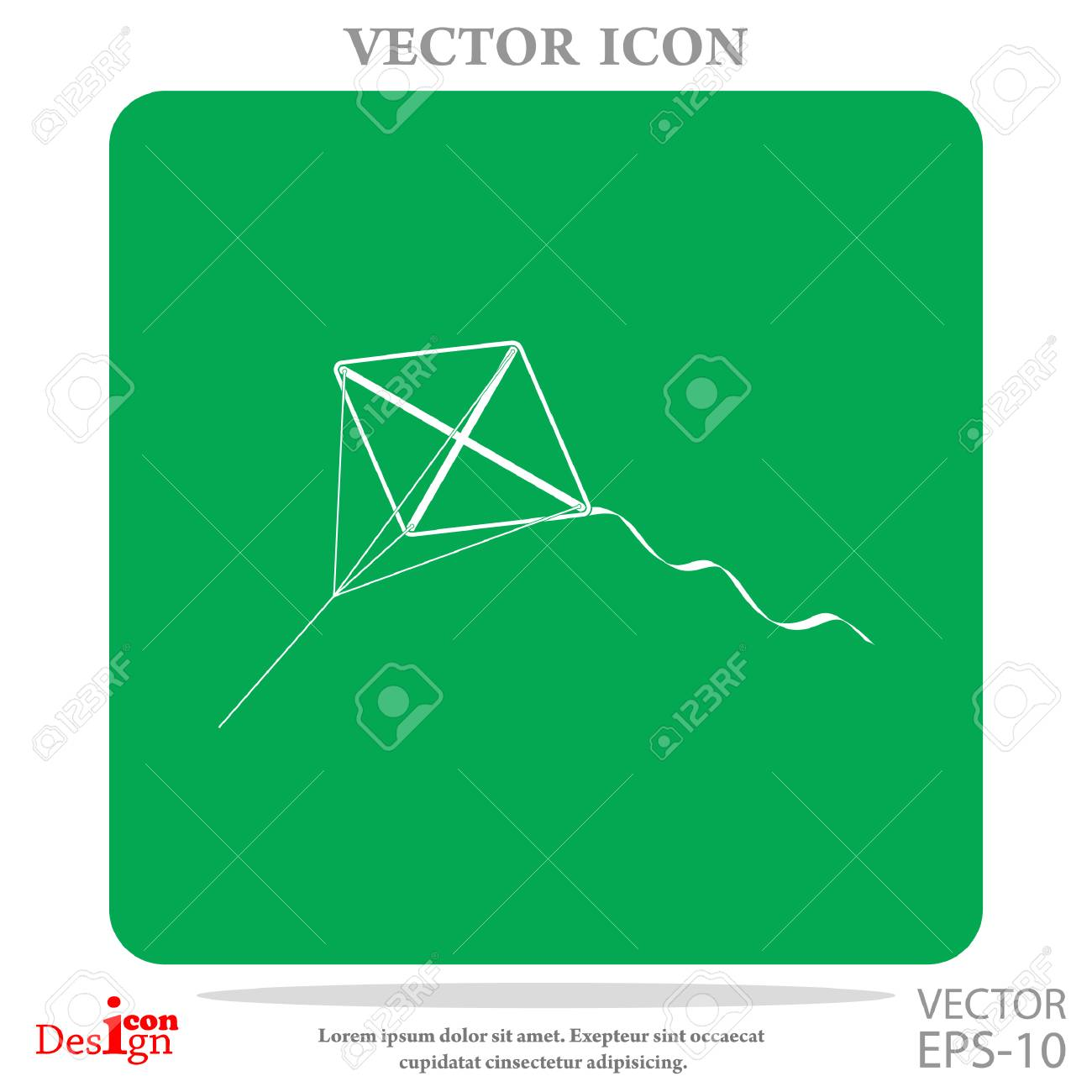 Kite Vector Icon Royalty Free Cliparts Vectors And Stock Diagram 62388041