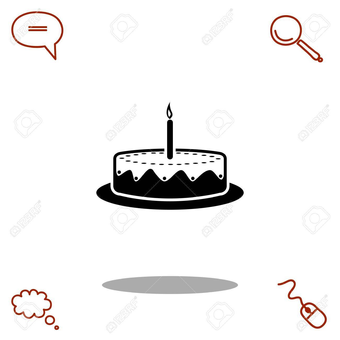 cake vector icon royalty free cliparts vectors and stock rh 123rf com