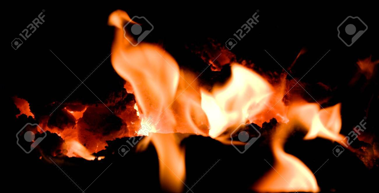 volcano ember with flames Stock Photo - 4264302