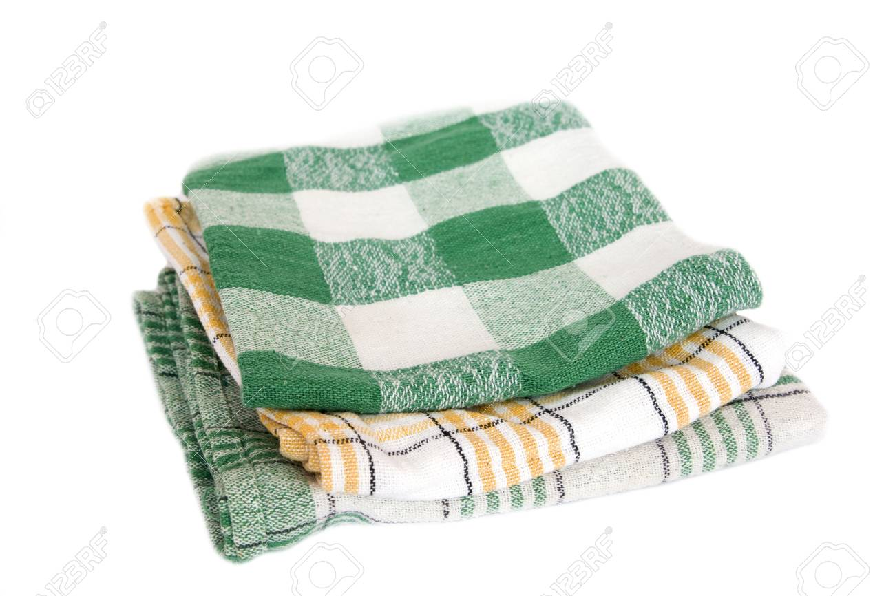 table napkins on white background Stock Photo - 6528911
