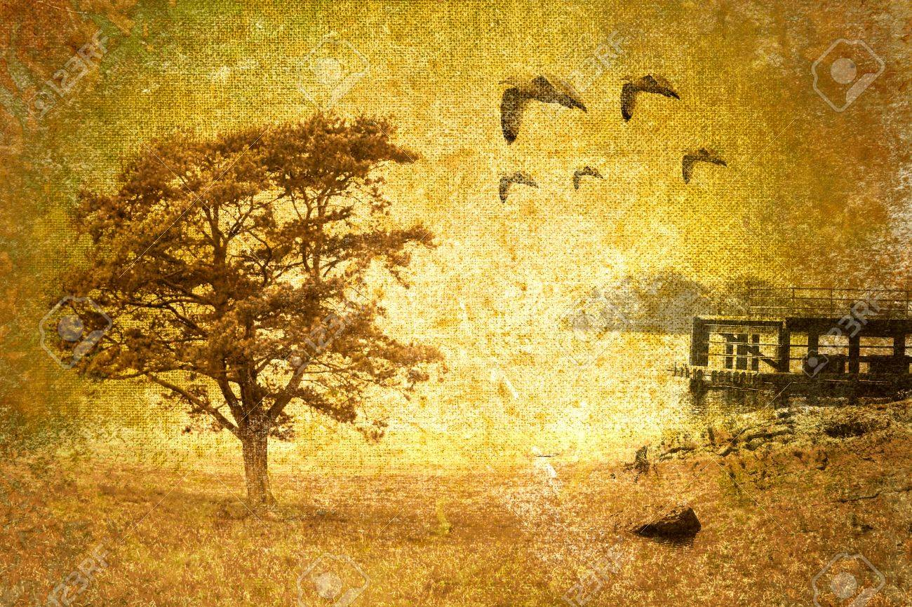 abstract vintage landscape Stock Photo - 8212118