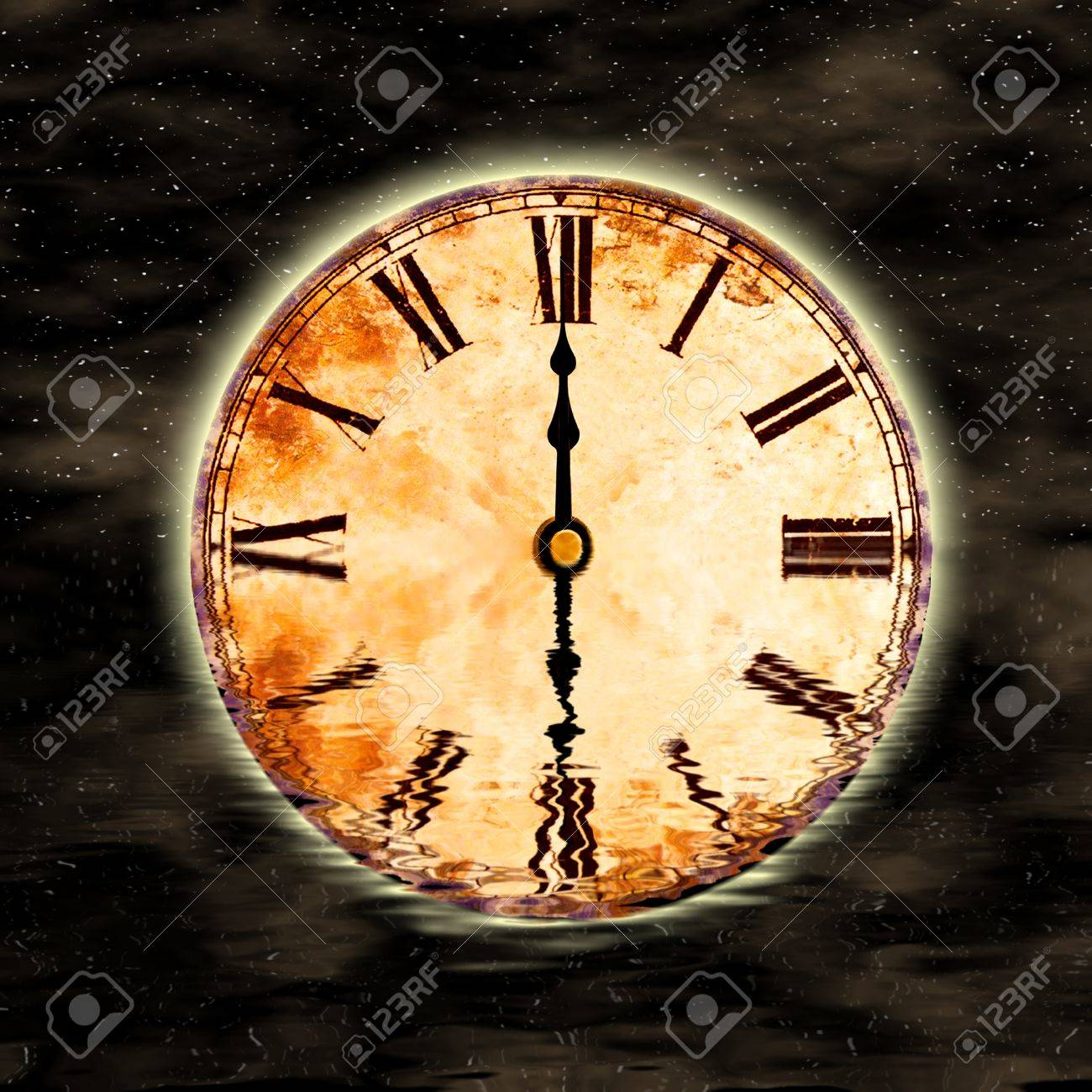 time and space, twelve o'clock Stock Photo - 8512232