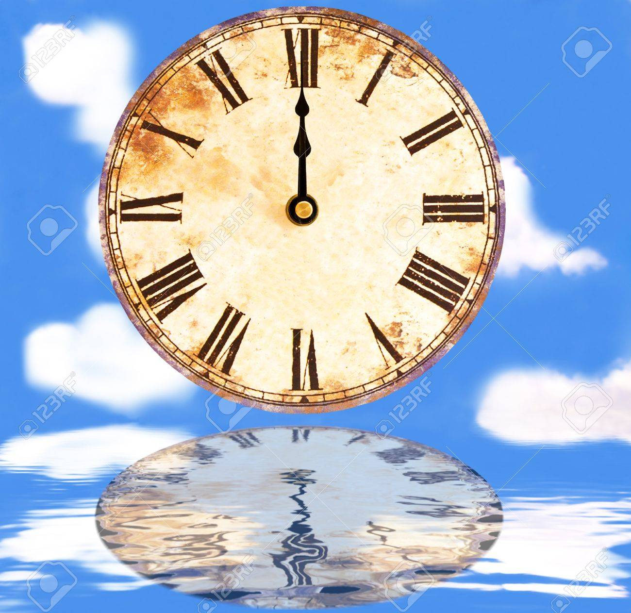 time and space, twelve o'clock Stock Photo - 8512234