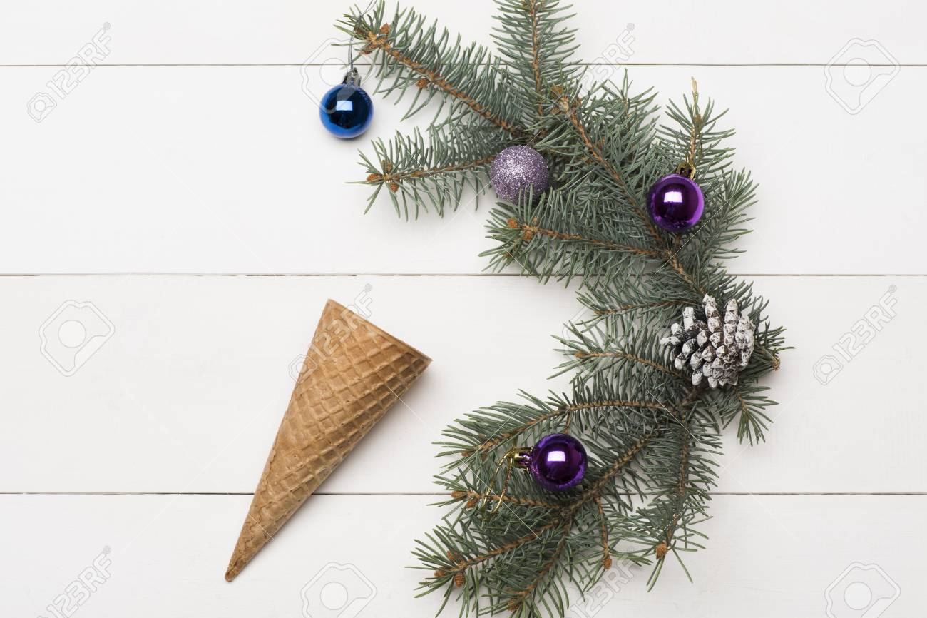 Christmas Baubles And Decorations Including Ice Cream Cone ...