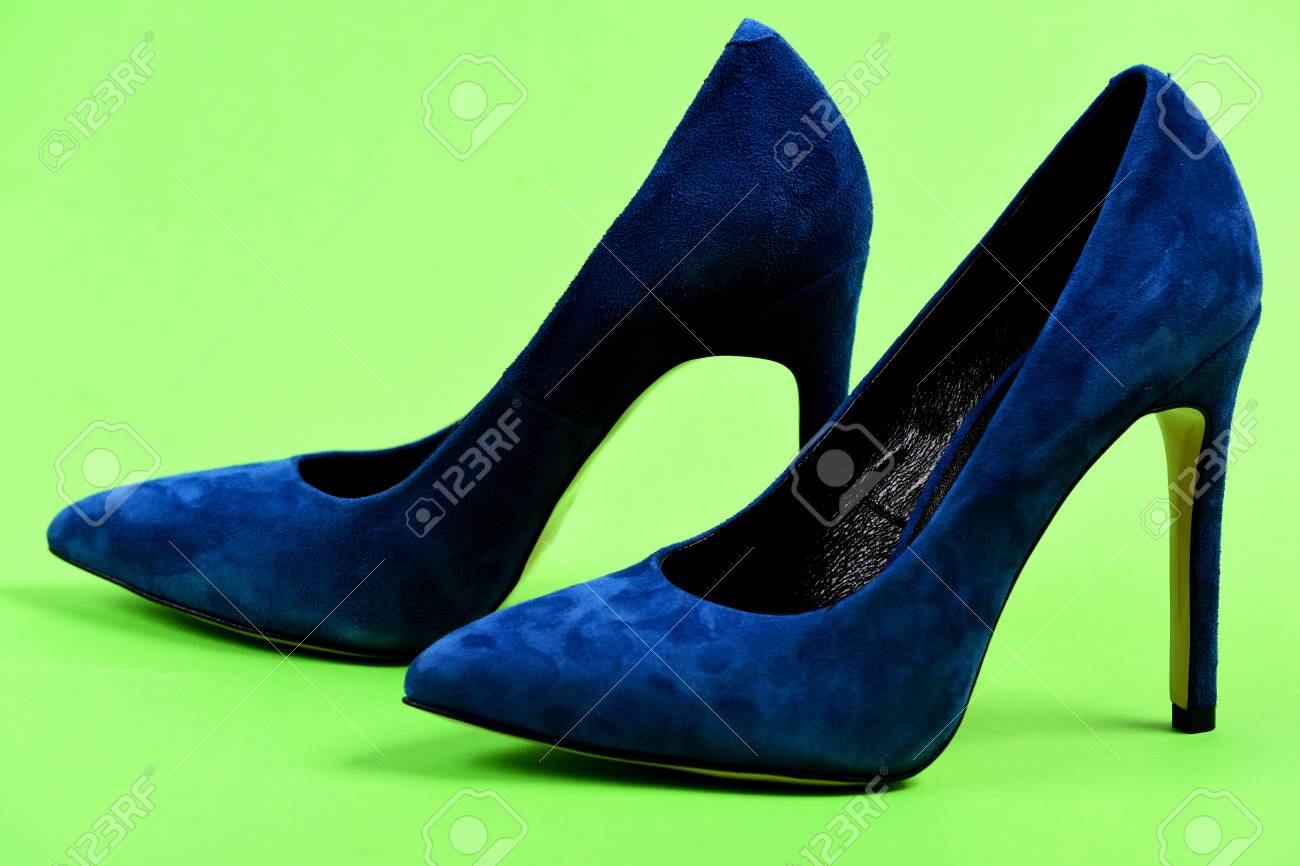 9096661e166 Pair Of Formal Suede Female Shoes