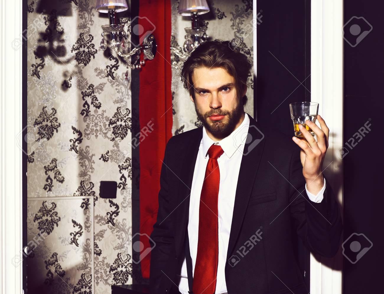 Bearded Man Businessman Long Beard Brutal Caucasian Hipster