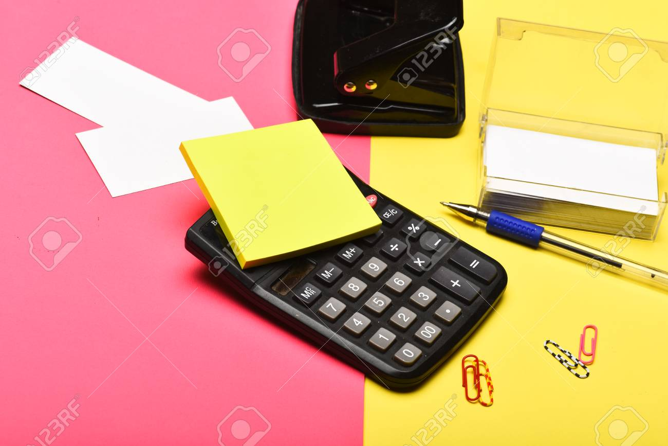 Business And Work Concept. Business Card Holder With Blank Cards ...