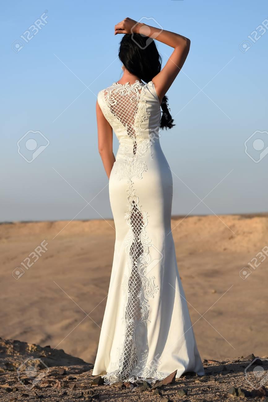 Vestido blanco ceremonia mujer