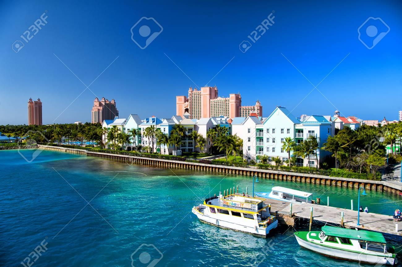 Resort Hotel Building Villa With Green Palm Tree Tropic Garden