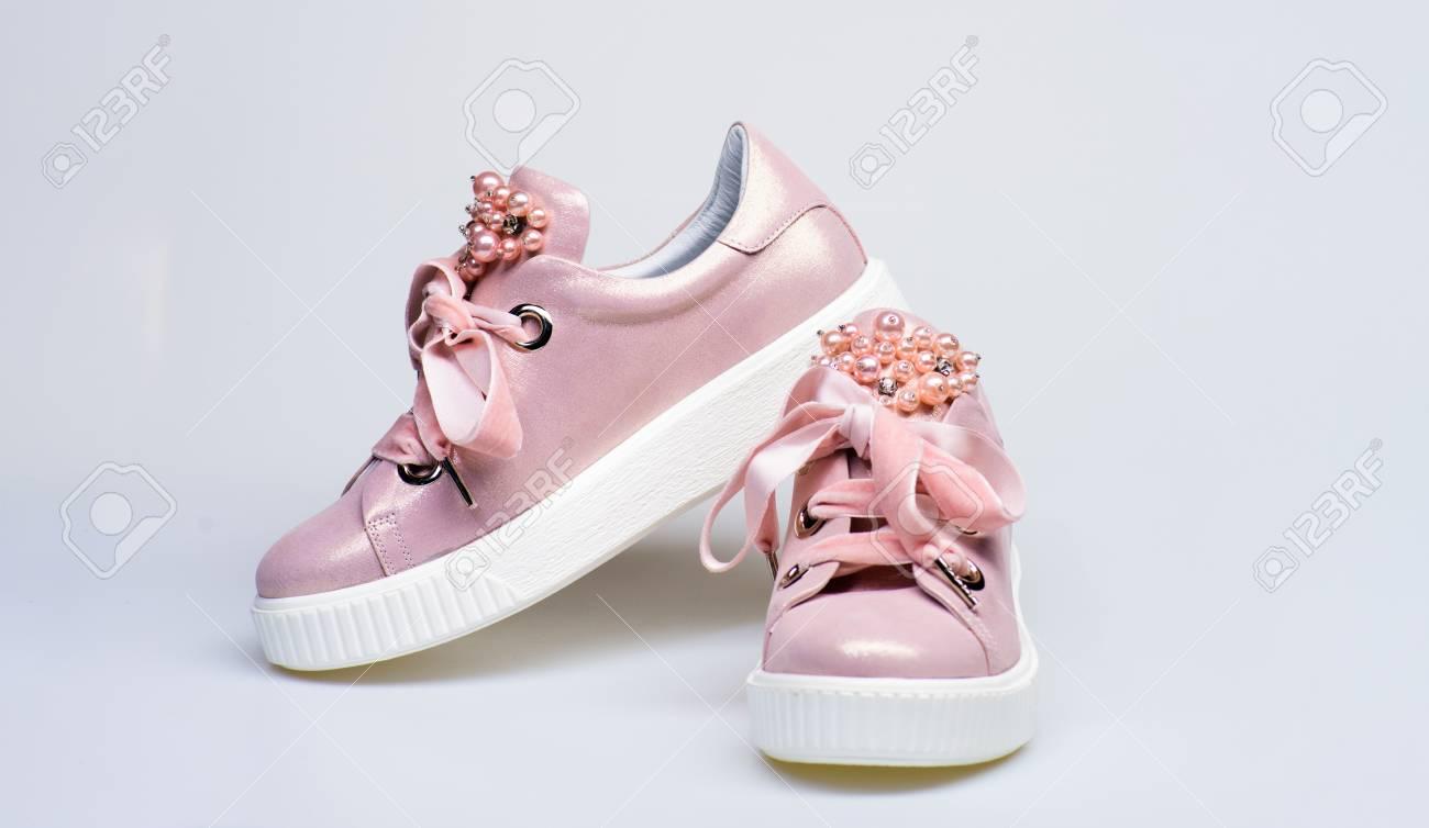Glamorous Sneakers Concept. Footwear