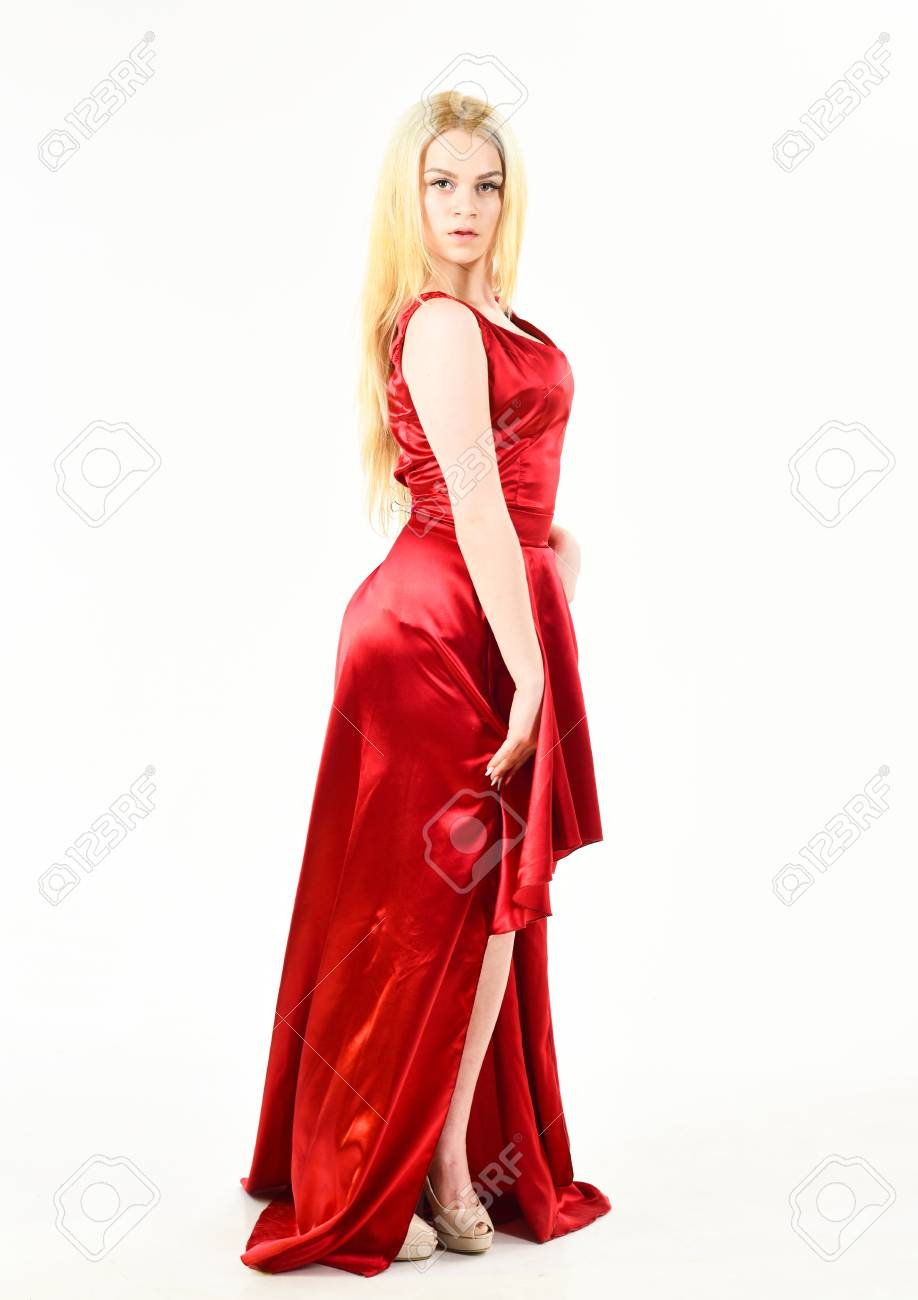 Lady rented fashionable dress for visiting event  Dress rent