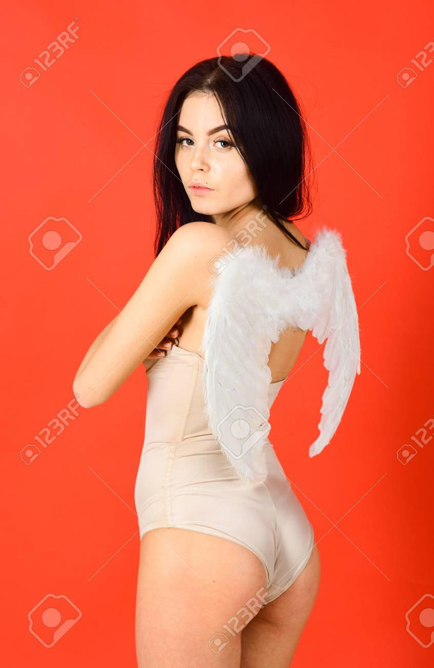 Slim body and angel face