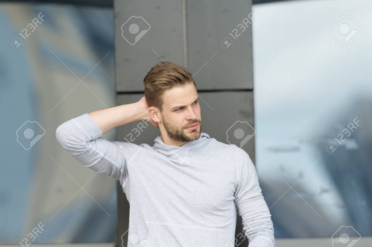 Fabulous Haircut Concept Man With Stylish Haircut Young Man With New Schematic Wiring Diagrams Phreekkolirunnerswayorg