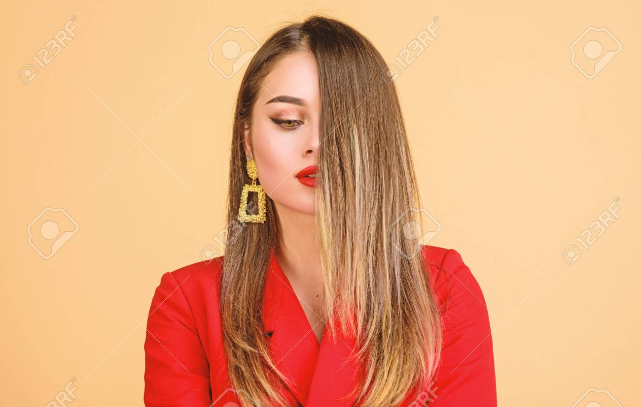 Balayage Hair Color Technique Pretty Woman Makeup Face Red Lips